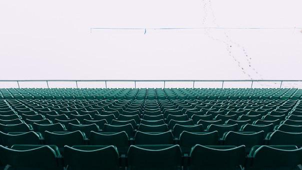 Chairs, Stadium, Empty, Rows, Public, Perspective