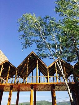 Travel, Hailar, Log Cabin, China