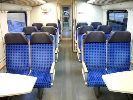 Sit, Seats, Train, Travel, Empty, Rows Of Seats