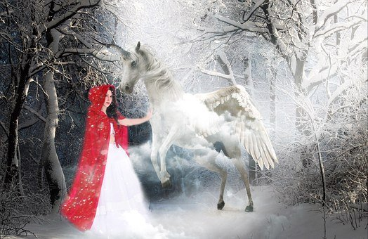 Fairy Tales, Woman, Girl, Red, Cape, Rotkäppchen