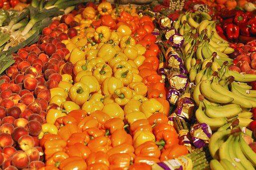 Greengrocers, Fruit, Banana, Asparagus, Peppers, Yellow