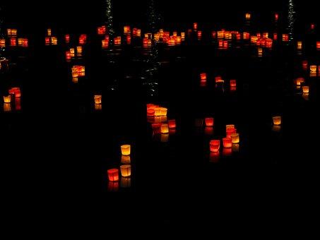 Lights, Candles, Floating Candles, Festival Of Lights