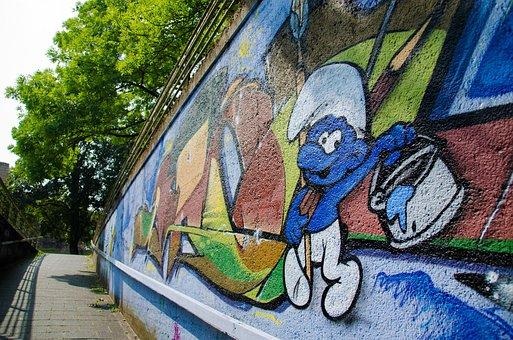 Graffiti, Facade, Hauswand, Art, Wall, Sprayer