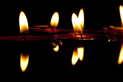 Candles, Water, Candlelight, Lights, Swim