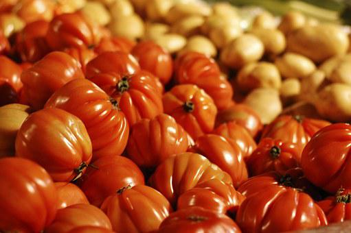 Greengrocers, Fruit, Shop, Tomatoes, Still Life, Red