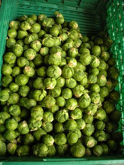 Greengrocer, Brussels Sprouts, Fresh, Green, Vegetables