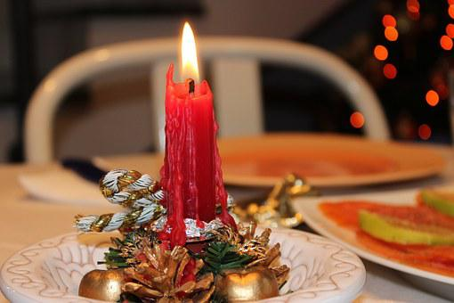 Candle, Red, Christmas, Flame, Decoration, Wax, Gold