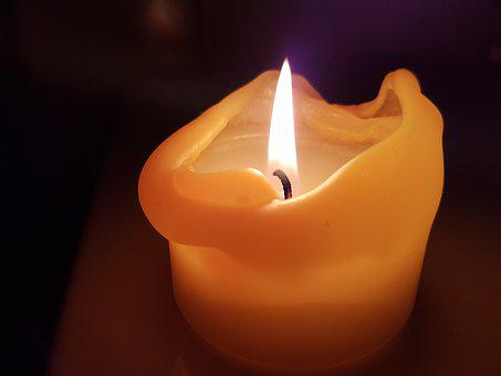 Candle, Flame, Wick, Fire, Light, Burn, Candlelight