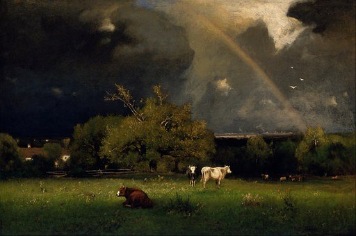 George Inness, Painting, Oil On Canvas, Art, Artistic