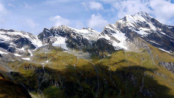 Mountain, Lake, Austria, Salzburg, Landscape
