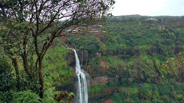 Panchgani, India, Waterfall, Lingmala Waterfall