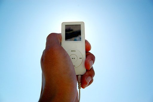 I-pod, Mp3-player, Hand, Sky, Portable, Music Player