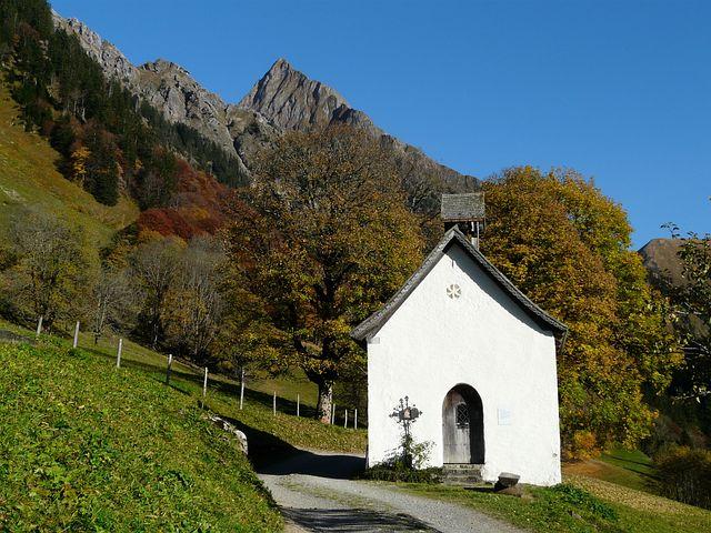 Gerstruben, Chapel, Postkartenmotiv, Calendar Image