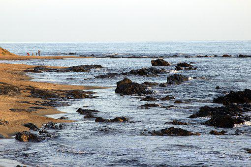 Rocks, Crag, Sea, Secluded Beach, Mijas, Landscape