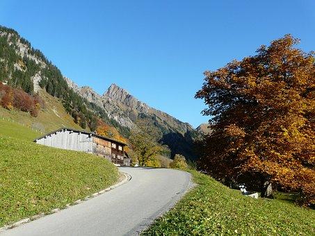 Gerstruben, Höfats, Road, Mountain, Postkartenmotiv