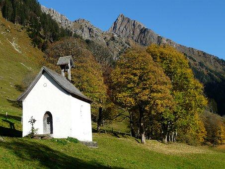 Chapel, Höfats, Gerstruben, Postkartenmotiv