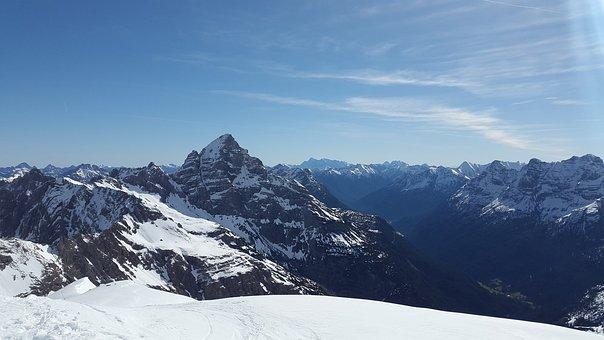 Hochvogel, Allgäu, Distant View, Alpine, Mountains