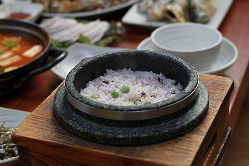Stone Pot, Traditional Korean Meal, Bob, Rice, Food