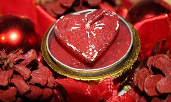 Christmas, Heart, Trappings, Cones, Ornament, Sapling