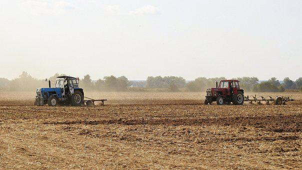 Arable, Plow, Agriculture, Tractor, Field, Ploughing