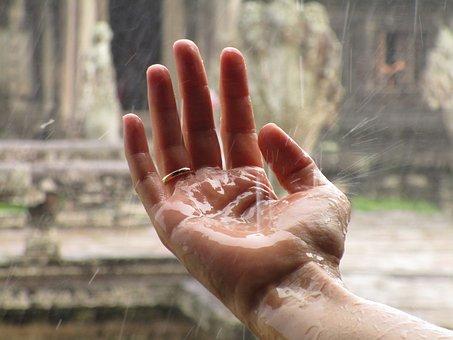 Hand, Rain, Zen, Ring, Commitment, Cambodia, Happy