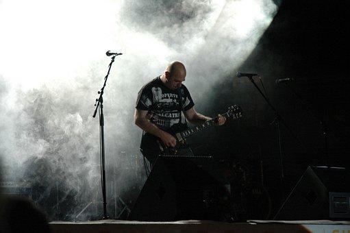 Guitar, Bass, Music, Rock, Scene, Musical, Instrument