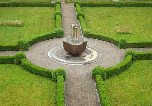 Fountain, Crossing, Cloister, Monastery Garden, Abbey