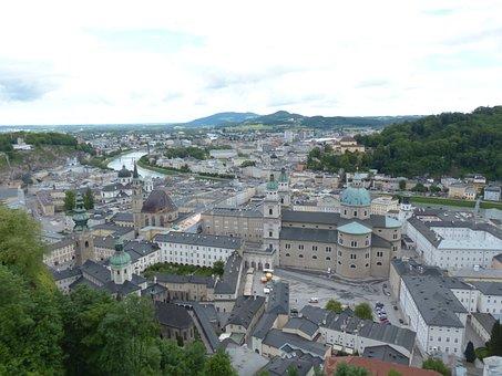 Salzburg, Old Town, City, Neustadt, Salzach