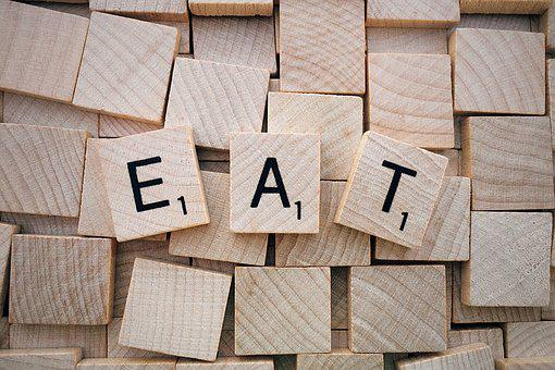 Eat, Word, Scrabble, Letters, Wooden