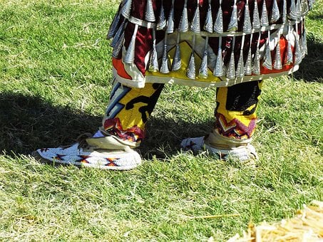 Beaded, Moccasins, Regalia, Native, Traditional
