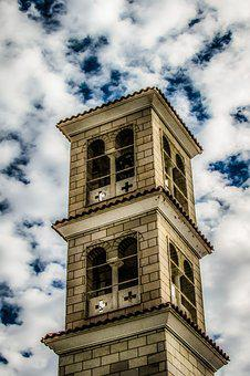 Belfry, Church, Sky, Clouds, Architecture, Religion