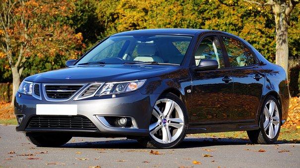 Car, Saab, Automobile, Reflection, Auto, Classic