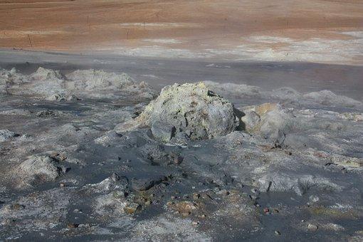Namafjall, Hverir, Iceland, Volcanism, Mud Pot, Bubble