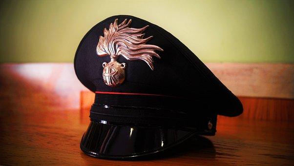 Flame, Italian Army, Police Hat, Carabinieri, Italy