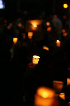 Candlelight, Korea, Cheonggye Square, Grief, Candle
