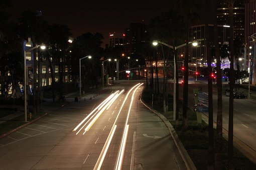 Longexposure, Night, Cars, Lights, Driving, City