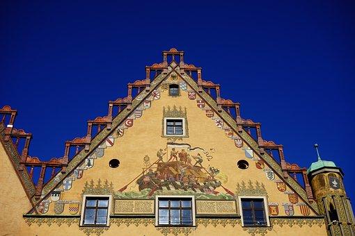 Home, Building, Town Hall, Ulm, Facade, Yellow
