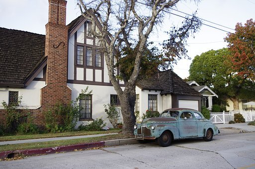 Old Cars, California, House, Usa, United States, Decor