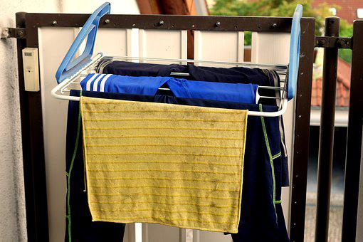 Laundry, Dry, Sport, Jogging Pants, Balcony, Garments