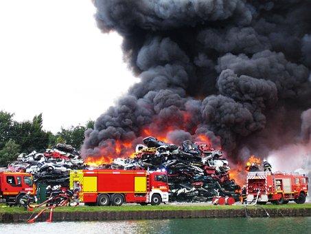 Smoke, Fire, Brand, Burn, Fire Fighting, Delete