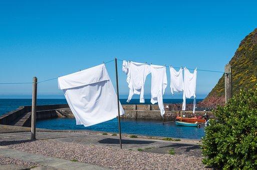 Blue, Laundry, Clothes Line, Dry, Clothes Peg, Hang