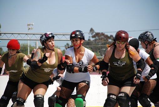 Roller Derby, Women, Violence, Skater, Derby