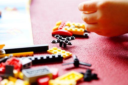 Lego, Build, Building Blocks, Toys, Children, Hand