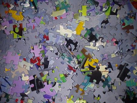 Puzzle, Share, Pieces Of The Puzzle, Mess, Colorful