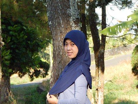 Female, Muslim, Hijab, Asian, Lady, Fashion, Smile
