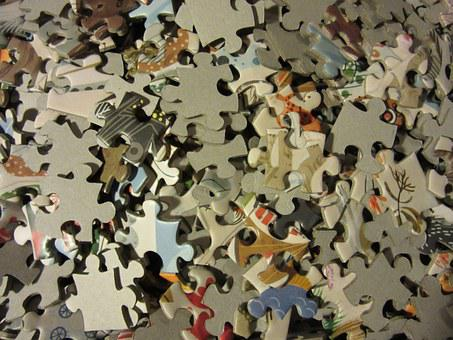 Puzzle, Pieces Of The Puzzle, Mess, Chaos, Problem