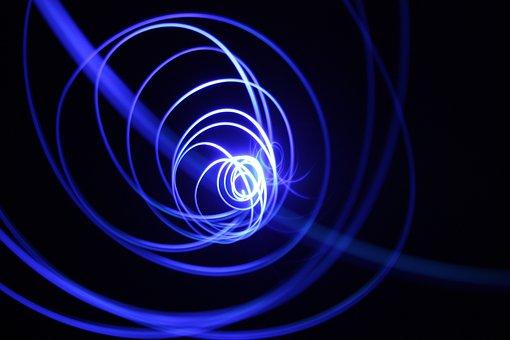 Light, Spiral, Fractal Art, Space, Energy, Glow, Star