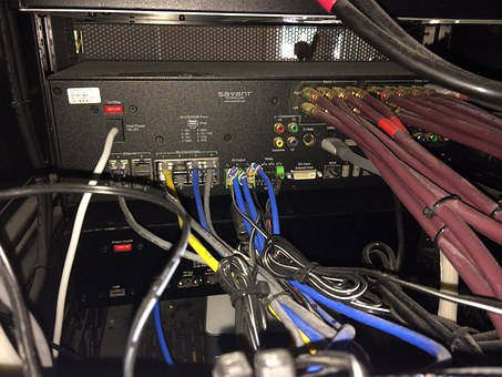 Messy, Wires, Cables, Power, Technology, Electricity