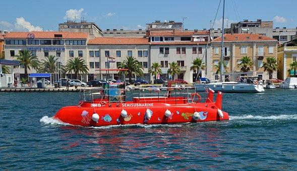 Glass Bottom Boat, U Boat, Underwater, Tourist Boat