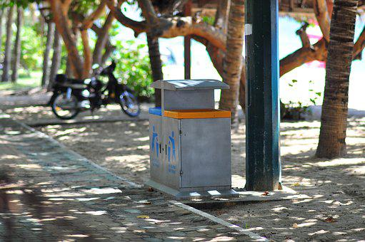 Dustbin, Beach, Trash, Environment, Garbage, Rubbish